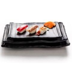 Melamine Plates Sushi BBQ Serving Platter Dishes Tray A 20.7x13x2.8cm