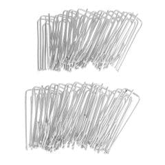 30Pieces Curtain Clip Tape Hooks Deep Prong Pinch  Silver - Stainless steel