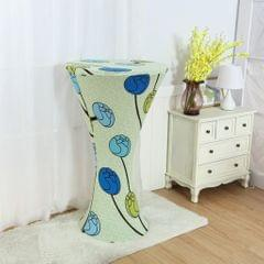 Round Base Cocktail Cover Wedding Event Dry Bar Table Cloth Plants 1