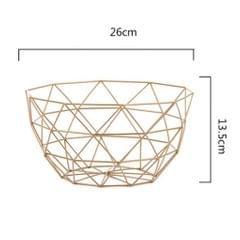 Geometric Metal Wire Decorative Storage Display Basket Table Fruit Bowl L