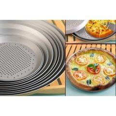 Anodized Aluminum Alloy Pizza Baking Plate Nonstick Coating Hole 10 inch