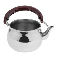 Outdoor Camping Stainless Steel Whistling Kettle Kitchen Tea Pot Silver 1.0L
