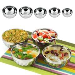 Kids Stainless Steel Double-deck Bowl Silver Color Dual-Layers Container 11.5CM