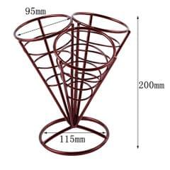 French Fry Stand Cone Basket Holder for Fries Fish Chips Appetizers Red