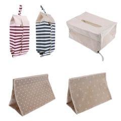 Linen Tissue Box Home Bathroom Toilet Paper Napkin Holder Floral Storage Bag