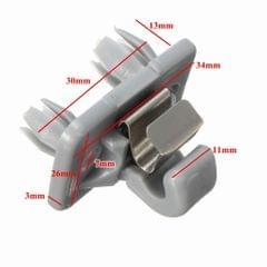 Car Sun Visor Clip Holder Hook for Audi A1 A3 S3 A4 S4 A5 S5 Q3 Q5 TT  Gray