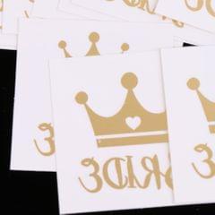 12x Metallic Team Bride Groom Temporary Tattoos Wedding Stickers Gold 2