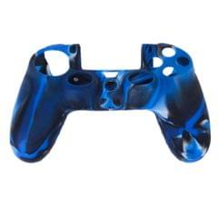 Camo Silicone Protective Skin Case Cover for Sony PlayStation 4 PS4 Controller --Navy with Black