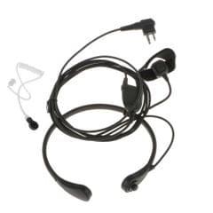 Throat Vibration Mic Speaker w/ PTT Finger Button for Motorola Interphone