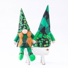 2 Pieces St. Patrick's Day Gnome Leprechaun Swedish Gnome Ornaments Style2