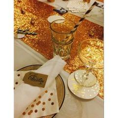Glitter Sequin Table Runner Tablecloth Wedding Party Decoration Gold