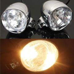 """2Pcs 4"""" Chrome Motorcycle Bullet Front Headlight Fog Light Lamp for Harley"""