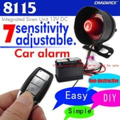 Car Vehicle Alarm Protection Security System with 2 Button Remote Control