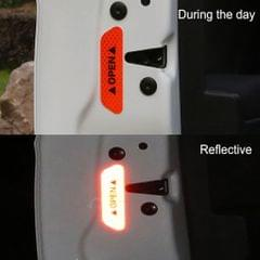 4 Pieces Safety Reflective Open Sign Warning Mark Car Door Stickers Orange
