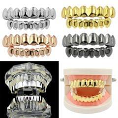18K Hip-Hop Top/Bottom Mouth Teeth Grills Unisex Golden - Top Grills