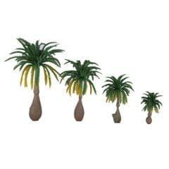 12pcs Layout Model Train Coconut Palm Trees Rain Forest Scale 1: 100-1: 250