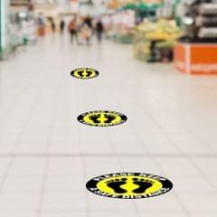 5pcs/set Social Distancing Floor Decals Sticker 6 Feet Floor Sign Notice A