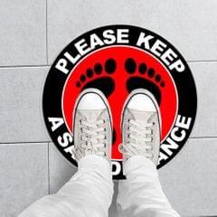 5pcs/set Social Distancing Floor Decals Sticker 6 Feet Floor Sign Notice B