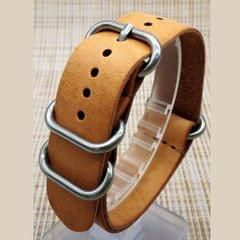4 Piece Silver Stainless Steel Rings Nylon Watch Band Strap Belt Buckle 22mm