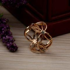 Antique Scarf Ring Buckle Silk Scarf Ring Clip for Women Lady Golden