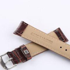 Alligator Grain Embossed Pattern Leather Watch Band Strap  22mm Bronze