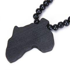 Wooden Africa Pendant Necklace