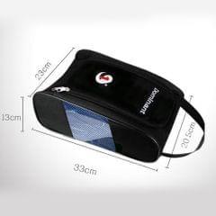 Portable Waterproof Golf Sport Shoes Bag Footwear Travel Case Hand Bag Blue
