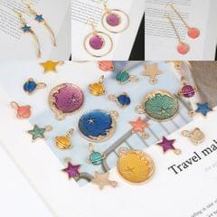DIY Jewelry Handmade Moon Star Pendant Necklace Earrings Accessories Purple