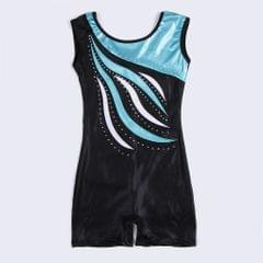 Girls Ballet Dance Gymnastics Leotards Tank Boy Shorts 9-10 Years Blue