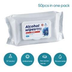 50PCS Cotton Pads Sheet 75 Degree Disposable Portable Wipe