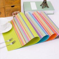 European Style Heat-resistant PVC Table Placemats Anti-skid Mat Gray