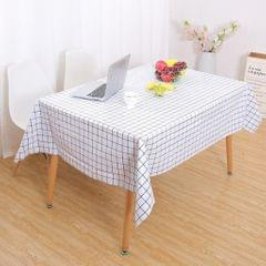 PVC Tablecloth Large Rectangle Dinner Table Cove Protector White