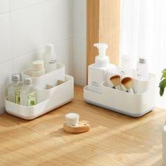 Makeup Storage Box Organizer Makeup Display Brush Holder Bathroom Gray