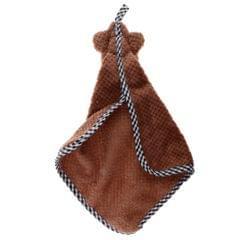 Microfiber Hand Towel Hanging Kids Washcloth Bath Water Dry Brown