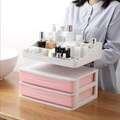 Cosmetic Organizer Makeup Drawer Holder Jewellery Box Storage 2 Tier Pink
