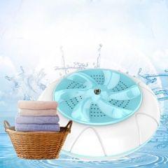 Ultrasonic Turbine Washing Machine Mini Tub Laundry Washer for Dorms Cyan