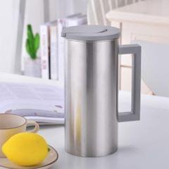 Stainless Steel Water Pitcher Juice Jar Beverage Serving Jugs Grey