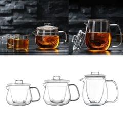 Small Glass Teapot Kettle Tea Pot with Removable Infuser Dishwasher Safe 300ml