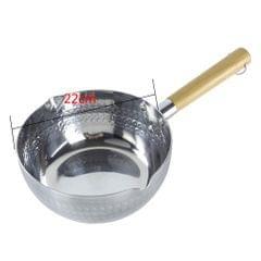 Aluminum Sauce Soup Milk Pan Nonstick Saucepan with Pour Spout Stockpot 22cm