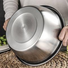 Colander Strainer Basket Stainless Steel Vegetable Food Sieve Bowl w/ Grater