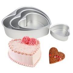 NonStick Springform Cake Tin Removable Bottom Heart Cake Mold Bakeware 8inch