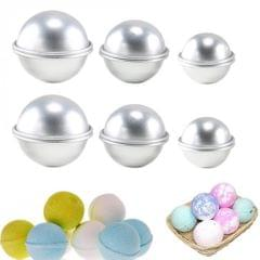 6pcs Bath Bomb Molds Aluminum DIY  Ball Cake Bath Bomb Mould