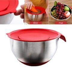 304 Stainless Steel Catering Washing Mixing Bowl 4.0L Bowl with Lid