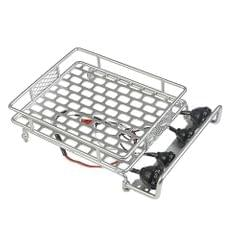 Roof Rack Luggage Carrier with Light Bar for 1/10 Monster