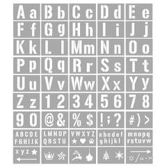 45PCS Stencils Letter and Number Template Reusable Washable