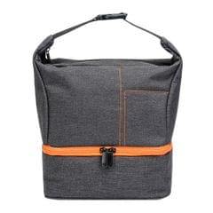 Portable Carry Case/Pouch/Bag Universal For SLR Camera w/ Strap Gray+Orange