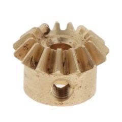 0.8 Modulus Brass Bevel Gear 15 Tooth 3 to 6mm Diameter Hole 3mm Hole  Brass