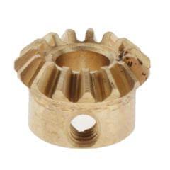 0.8 Modulus Brass Bevel Gear 15 Tooth 3 to 6mm Diameter Hole 5mm Hole  Brass