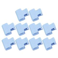 10x Greenhouse Film Netting Tunnel Hoop Clips Clamps 1 Head_Blue_6mm