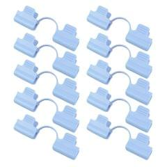 10x Greenhouse Film Netting Tunnel Hoop Clips Clamps 2 Head_Blue_8mm